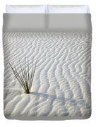 Alone In A Sea Of White Duvet Cover by Mike  Dawson