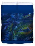 Alone In The Clouds Duvet Cover