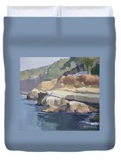 Along Coast Walk In La Jolla, San Diego, California Duvet Cover