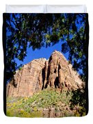 Along Emeral Pools Trail - Zion Duvet Cover