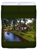 Along The Canal. Giethoorn. Netherland Duvet Cover