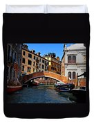 Along The Canals Of Venice Duvet Cover