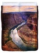 Along The Colorado River Duvet Cover