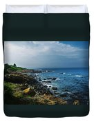 Along The Marginal Way Duvet Cover