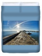 Along The North Wall Duvet Cover