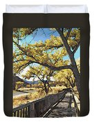 Along The Path Duvet Cover