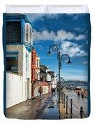 Along The Promenade - Lyme Regis Duvet Cover