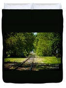 Along The Rails Duvet Cover