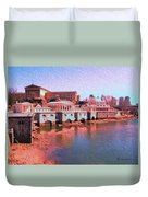 Along The Schuylkill At The Philadelphia Waterworks Duvet Cover