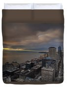 Along The Seattle Waterfront Duvet Cover