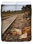 Along The Tracks Duvet Cover