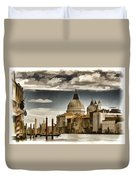 Along The Venice Canal Duvet Cover