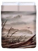Along The Wild Shore Duvet Cover