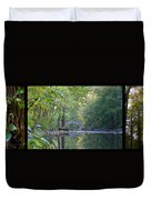 Along The Wissahickon In October Duvet Cover