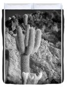 Alpaca Incahuasi Island Black And White Select Focus Duvet Cover