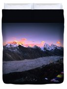 Alpenglow Lights The Summit Of Mt Duvet Cover