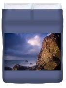 Alpenglow On Wedding Rock Duvet Cover