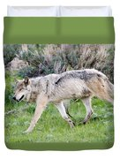 Alpha Wolf On The Move Duvet Cover