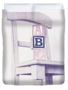 Alphabet Blocks Chair Duvet Cover by Edward Fielding