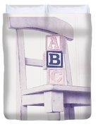 Alphabet Blocks Chair Duvet Cover