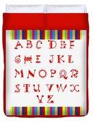 Alphabet Red Duvet Cover