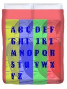 Alphabet With Apples Duvet Cover