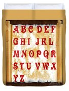 Alphabet With Scroll 2 Duvet Cover