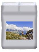 Alpine Ibex Duvet Cover
