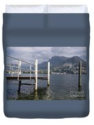 Alpine Lake And A Jetty Duvet Cover