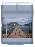 Alpine Lake With A Pier Duvet Cover