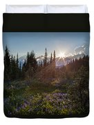Alpine Meadow Sunrays Duvet Cover
