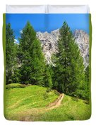 alpine path in Contrin Valley Duvet Cover