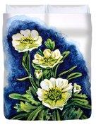 Alpine Ranunculus Duvet Cover