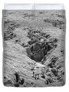 Alpinists On Glacier Duvet Cover
