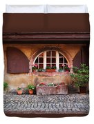Alsatian Home In Kaysersberg France Duvet Cover by Greg Matchick