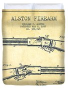 Alston Firearm Patent Drawing From 1887- Vintage Duvet Cover