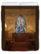 Altar At The Little Church In La Villita Duvet Cover