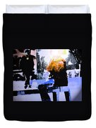 Alternate Reality - Photographer On Fire Duvet Cover