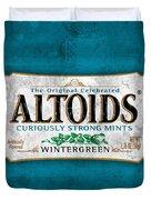 Altoids Wintergreen Scratches Duvet Cover