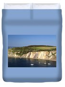 Alum Bay And The Coloured Sand Cliffs Duvet Cover