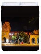 Alvarado Transportation Center Night Duvet Cover