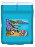 Amalfi Coast Duvet Cover