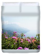 Amalfi Coast View From Ravello Italy  Duvet Cover