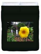 Amarillo La Flor Duvet Cover