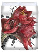 Amaryllis Flowers - 2. -  Elena Yakubovich Duvet Cover