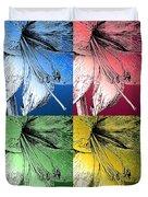 Amaryllis Pop Art Duvet Cover