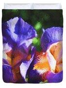 Amazing Iris Duvet Cover