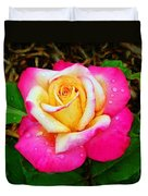 Amazing Red Yellow Rose Duvet Cover