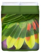 Amazon Parrots Feathers Abstract Duvet Cover
