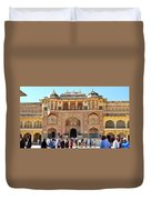 Amber Fort Entrance To Living Quarters - Jaipur India Duvet Cover